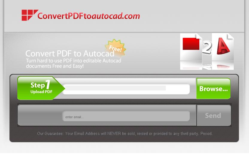 Converta PDF para AutoCAD Gratuitamente