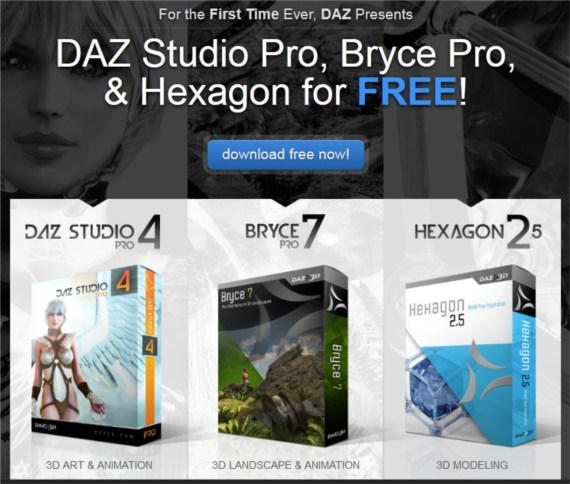 Produtos da DAZ 3D gratuitos até ao final do mês