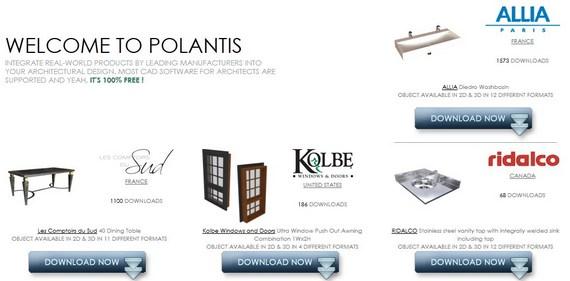 Polantis – Objetos 2D e 3D Gratuitos para Arquitetura