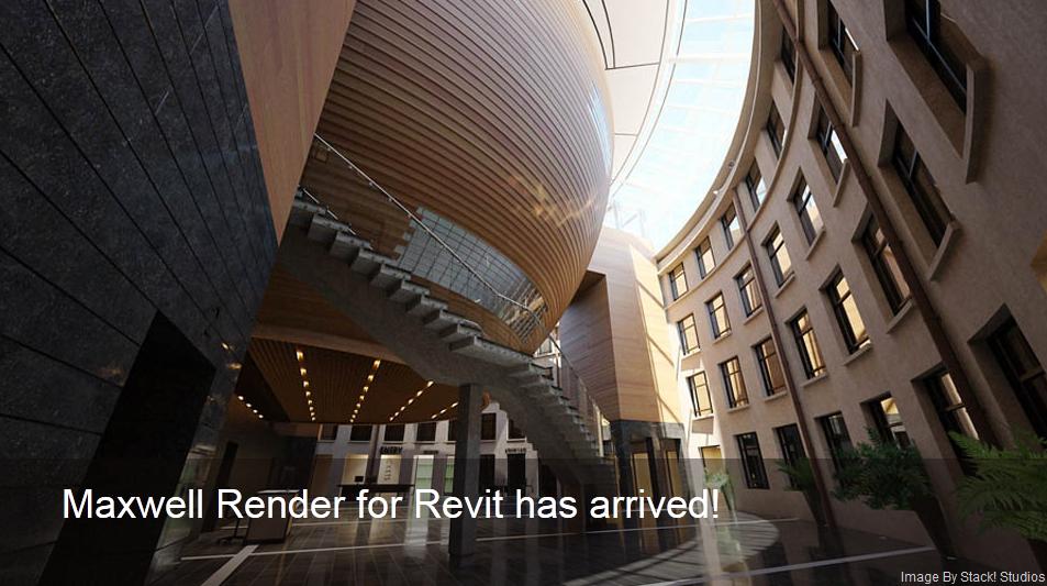 Maxwell Render agora também no Revit