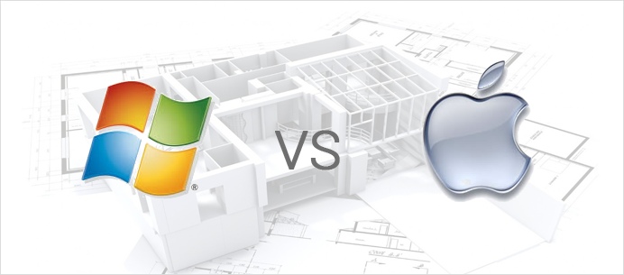 Windows vs Mac OS X para Arquitetura